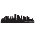New Orleans Louisiana skyline vector image vector image