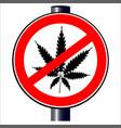 no weed vector image vector image