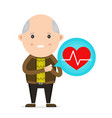 old man having heart attack vector image