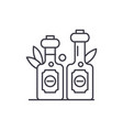 olive oil line icon concept olive oil vector image