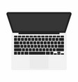 opened laptop in top view grey laptop with dark vector image vector image