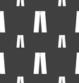 Pants icon sign Seamless pattern on a gray vector image vector image