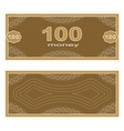 Play money One Hundred vector image