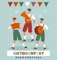 poster design for munich oktoberfest vector image
