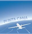 punta cana flight destination vector image vector image
