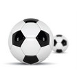 realistic soccer balls or football ball on white vector image vector image