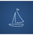 Sailboat line icon vector image