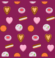 seamless pattern colorful cakes vector image vector image