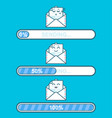 set of emoji messages in letters with progress vector image vector image