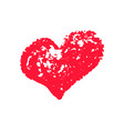 textured red heart chalk clipart icon vector image