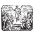 the ascension of jesus at the mount of olives vector image vector image