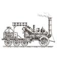 train logo design template steam vector image
