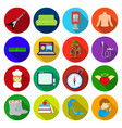 travel trade business and other web icon in flat vector image vector image
