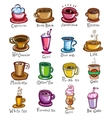types coffee vector image vector image