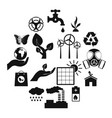 universal ecology black icons set vector image
