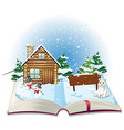Winter book vector image vector image