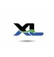 XL logo vector image vector image