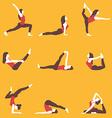 yoga yoga set yoga exercises women yoga yoga vector image