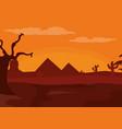 desert and sunset vector image