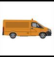 flat cargo van vector image