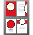 brochure pages templates with circle vector image