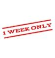 1 Week Only Watermark Stamp vector image vector image