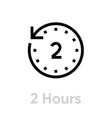 2 hours icon editable outline vector image vector image