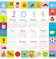2014 kids toys Calendar vector image vector image
