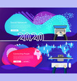 2020 new year business technology social media vector image vector image
