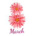 8 march card vector image