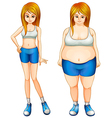 A fat and a slim woman vector image