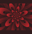 abstract digital modern red floral design vector image vector image