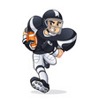 american football player running vector image vector image