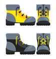 boots yellow and black icon vector image