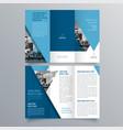 brochure design 1286 vector image vector image