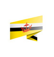 brunei flag on a white vector image vector image