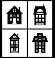 building old fashioned houses silhouettes set vector image vector image