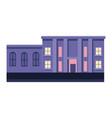 building purple business exterior facade columns vector image vector image