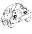 car character with big eyes sketch coloring vector image vector image