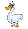 Cartoon goose with big eyes vector image vector image