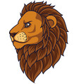 cartoon lion head mascot vector image vector image