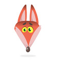 cartoon red fox red smiling fox icon vector image vector image