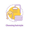 choosing hairstyle concept icon vector image vector image