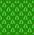 christmas fir tree green art seamless pattern vector image