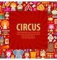 circus logo design template clown artist vector image vector image