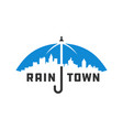 city umbrella logo vector image vector image