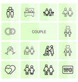 couple icons vector image vector image