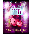 Disco Valentine background Disco poster vector image vector image