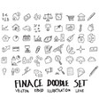 doodle sketch finance icons eps10 vector image vector image