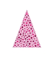 Dotted christmas tree vector image vector image